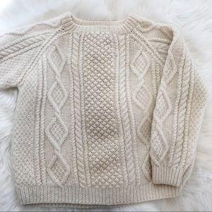 Vintage Hand Knit Aran Fisherman's Sweater
